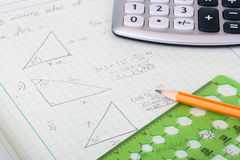 Cálculos geométricos Imagens de Stock