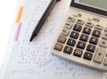 Cálculos y fórmulas foto de archivo libre de regalías