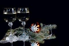 Cálice dois do champanhe. Foto de Stock