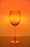 Cálice vazio do vidro de vinho Fotografia de Stock