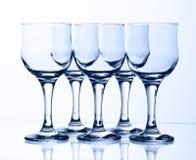 Cálices de vidro imagens de stock royalty free