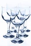 Cálices de vidro imagem de stock