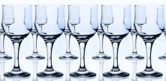 Cálices de vidro fotografia de stock