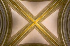 Cámara acorazada con las costillas doradas Imagenes de archivo