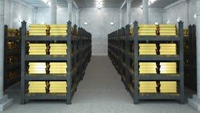 Cámara acorazada de batería Imagen de archivo