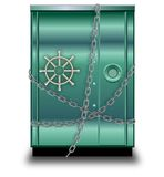 Cámara acorazada de la seguridad Imágenes de archivo libres de regalías