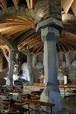 Cámara acorazada y pilares Fotografía de archivo
