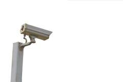 Cámara aislada del cctv de la seguridad fotografía de archivo libre de regalías