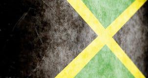 Cámara animada cinemática que resbala a través de la bandera de Jamaica del grunge ilustración del vector