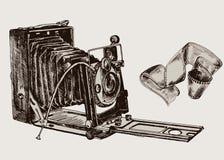 Cámara. bosquejo del vector Fotografía de archivo