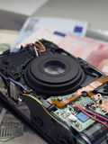 Cámara causada un crash Fotografía de archivo libre de regalías