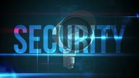 Cámara CCTV con el texto de la seguridad stock de ilustración
