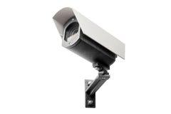 Cámara CCTV en el fondo blanco Fotografía de archivo libre de regalías