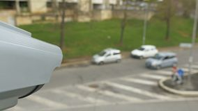 Cámara CCTV teledirigida almacen de metraje de vídeo