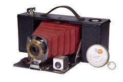 Cámara clásica de la película y fotómetro Fotografía de archivo libre de regalías
