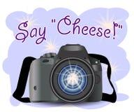 CÁMARA con el icono de la foto, fotografía, cámara digital con símbolo de la imagen, equipo de la foto del fotógrafo stock de ilustración