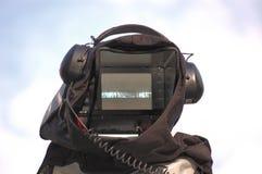 Cámara con el receptor de cabeza Foto de archivo