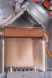 Cámara de combustión de la caldera de gas Imagen de archivo
