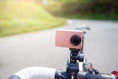 Cámara de la acción en la bicicleta en Japón Fotografía de archivo