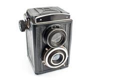 Cámara de la foto de la lente de la vendimia dos Fotografía de archivo libre de regalías