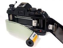 cámara de la película de 35m m Fotografía de archivo libre de regalías