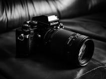 Cámara de la película del F3 SLR de Nikon Imagenes de archivo
