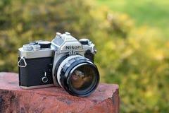 Cámara de la película del vintage de Nikon Fotografía de archivo libre de regalías