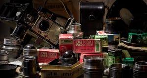 Cámara de la película y película imagenes de archivo