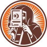 Cámara de la vendimia del fotógrafo ilustración del vector