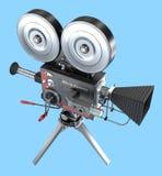 Cámara de película del viejo estilo, ilustración del vector