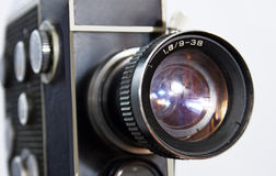 Cámara de película retra 8m m 16m m fotos de archivo