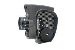 Cámara de película vieja con cierre de la lente para arriba Fotos de archivo