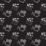 Cámara de película y tablero de chapaleta Foto de archivo libre de regalías