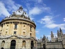 C?mara de Radcliffe en Oxford, cielo nublado imagen de archivo libre de regalías
