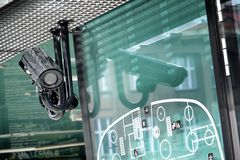 Cámara de seguridad fotografía de archivo