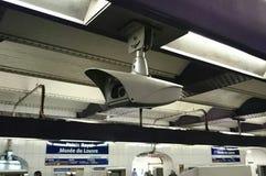Cámara de seguridad en el metro Foto de archivo libre de regalías