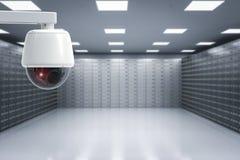 Cámara de seguridad en sitio de cajas de depósito seguro imagen de archivo