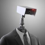 Cámara de seguridad robótica ilustración del vector