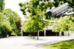 Cámara de seguridad y seguridad en una escuela Imagen de archivo libre de regalías