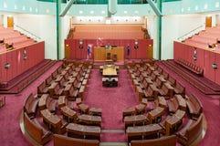 Cámara de senado australiana en casa del parlamento foto de archivo libre de regalías