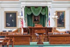 Cámara de senado en Texas State Capitol en Austin, TX fotos de archivo