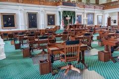 Cámara de senado en Texas State Capitol en Austin, TX imagenes de archivo