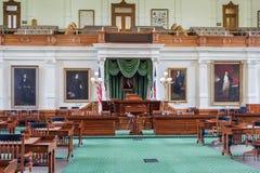 Cámara de senado en Texas State Capitol en Austin, TX imágenes de archivo libres de regalías