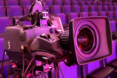 Cámara de televisión Imagen de archivo libre de regalías