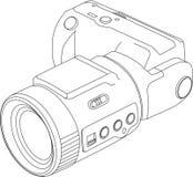 Cámara de vídeo de Digitaces ilustración del vector