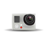 Cámara de vídeo de la acción Imagen de archivo libre de regalías