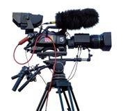 Cámara de vídeo de la televisión profesional Fotografía de archivo libre de regalías