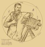 Cámara de vídeo del fotógrafo libre illustration