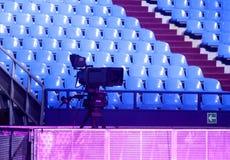 Cámara de vídeo digital del estudio profesional de la TV Fotografía de archivo libre de regalías