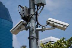Cámara de vigilancia de la seguridad Fotografía de archivo libre de regalías